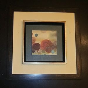 Framed Abstract Circles Painting Wall Art!